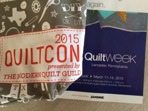 Quiltcon and AQS Lancaster 2015